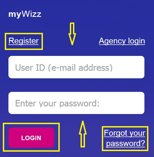 login_or_register_on_Wizz_Air