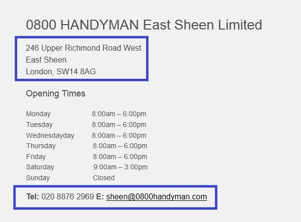0800_Handyman_East_Sheen_shop_contact_number