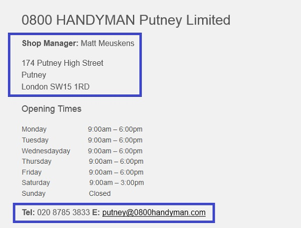 0800_Handyman_Putney_shop_contact_number