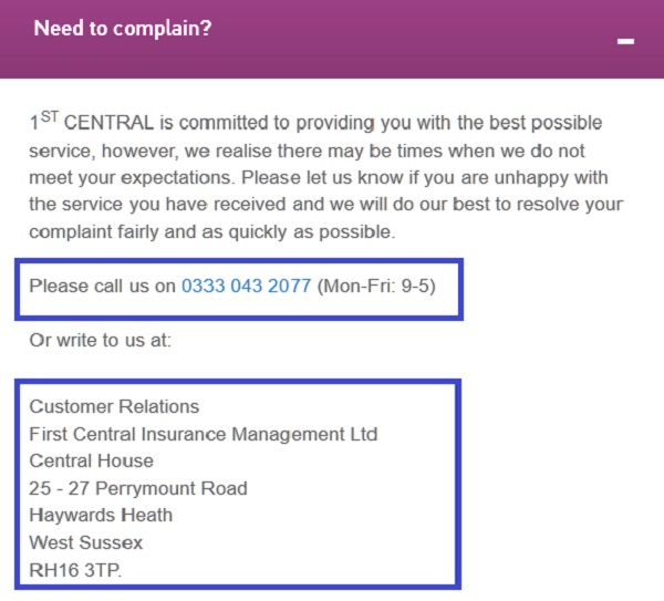 1st_Central_complaints_and_customer_relations_services_contact_number