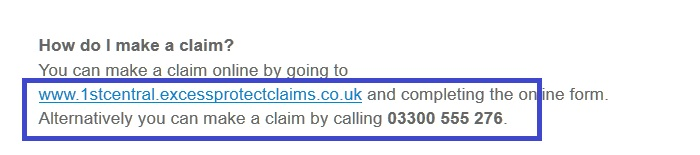 1st_Central_excess_protect_cover_claims_contact_number