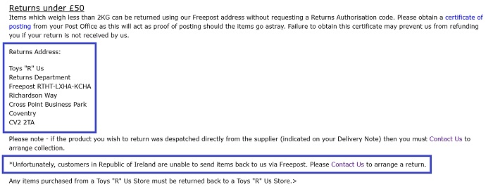 Address_To_Send_Toys_R_Us_Returns