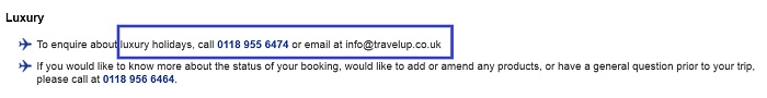 Travelup_luxury_holidays_assistance_number