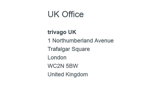 Trivago_UK_Office_Address