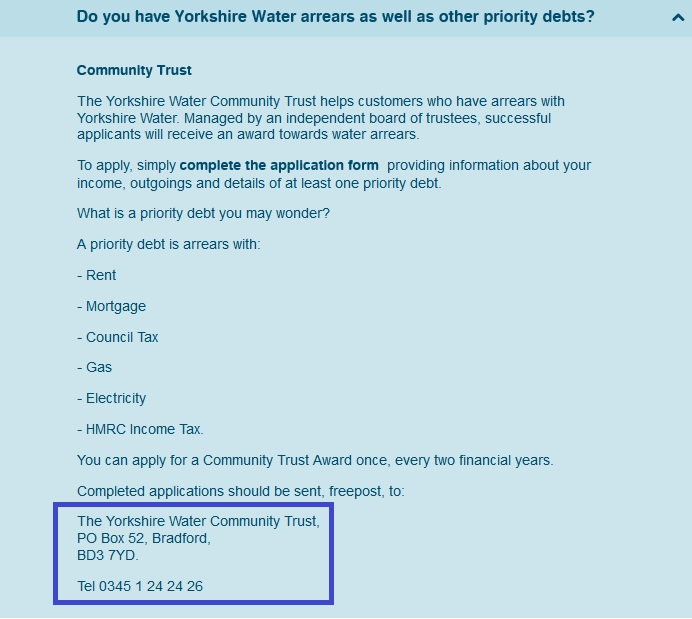 Yorkshire_Water_water_community_trust_number