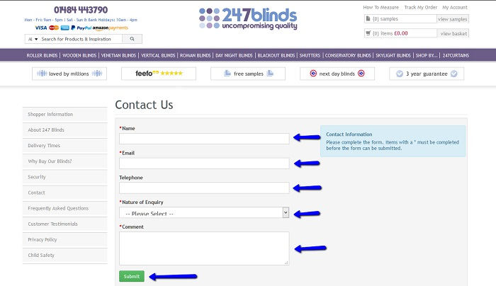 247 blinds customer service contact number 0148 444 3790 - Post office customer service phone number ...