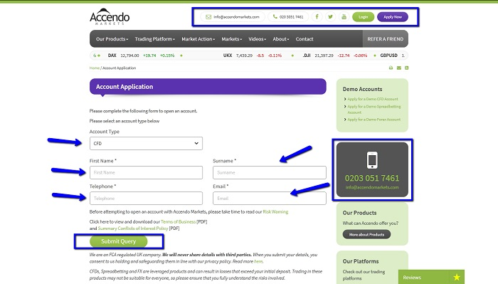Accendo_Markets_Online_Account_Application