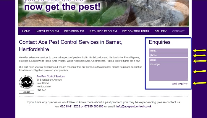 Ace_Pest_Control_Online_Enquiry_Form