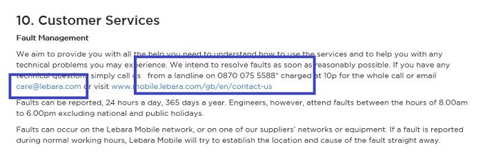 Lebara_Mobile_complaints_number