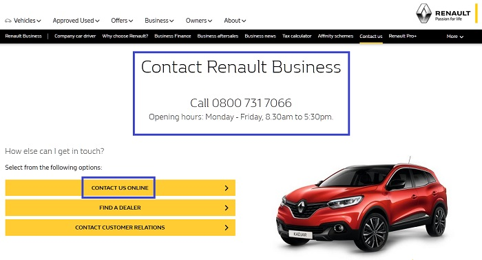 Renault_UK_business_solutions_customer_service_and_sales_free_contact_number