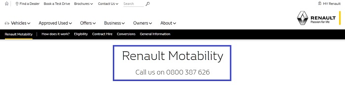 Renault_motability_free_number