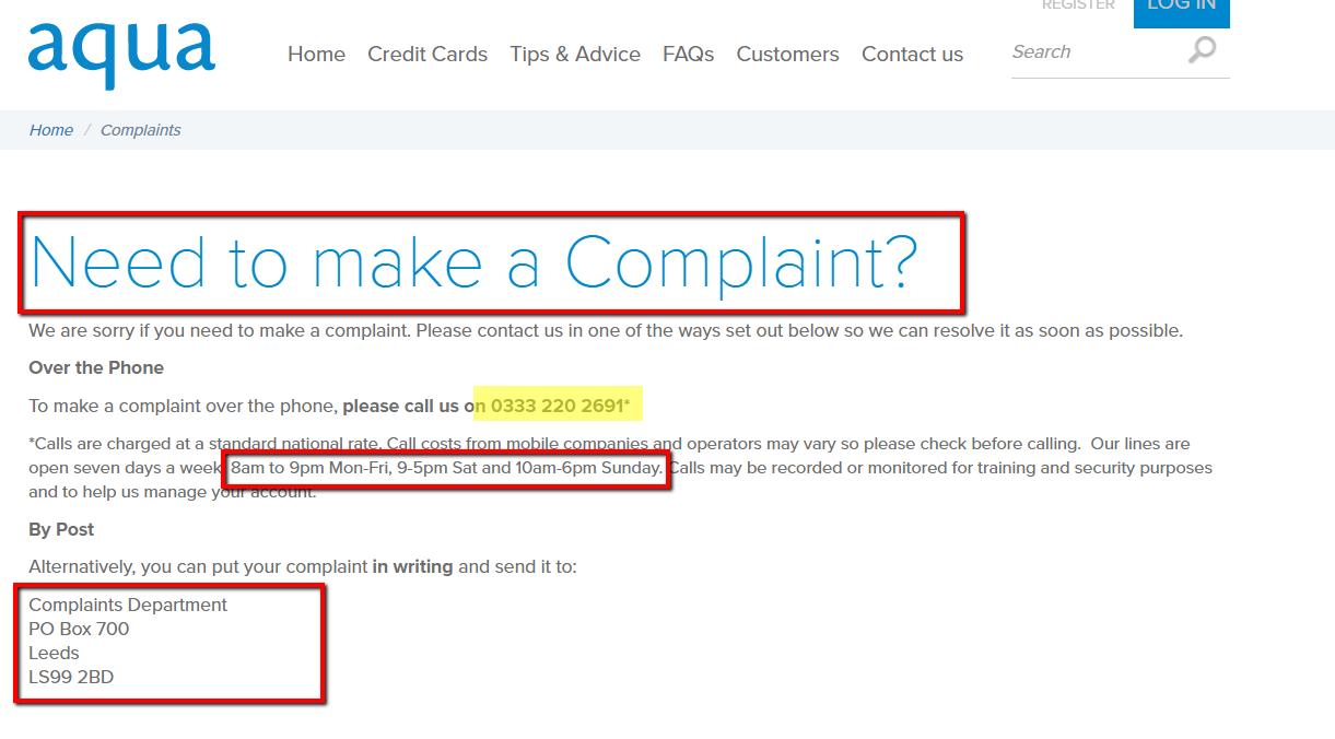 Aqua_card_complaints
