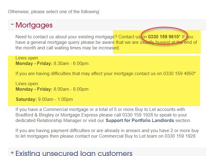 NRAM Mortgages contact number