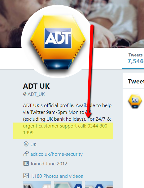 adt contact number