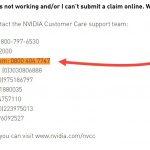 Nvidia customer service